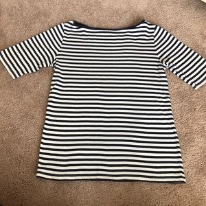 Ann Taylor Striped Boat Neck Tank
